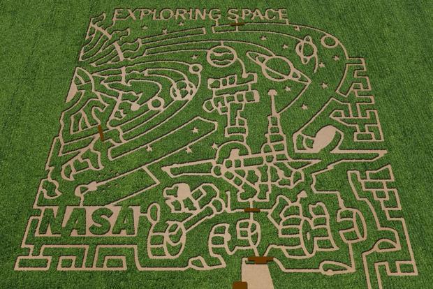 7 crop circles with NASA themes