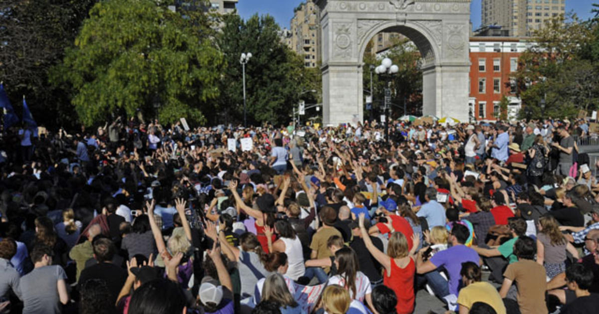 Thousands Take Wall Street Protest To Nyc Park Cbs News