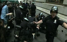 """""""Occupy Wall Street"""" protesters clash with police - RAW VIDEO"""