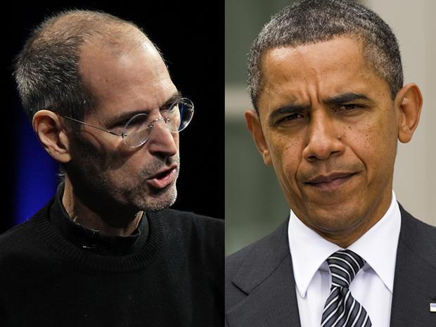 Apple CEO Steve Jobs and US President Barack Obama