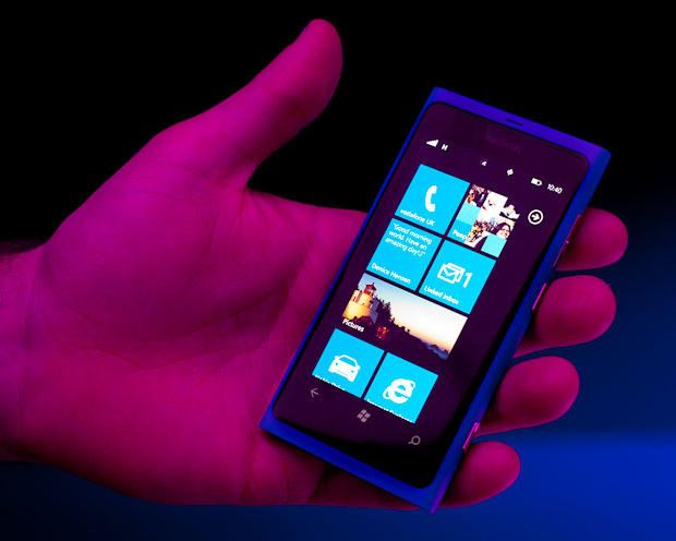 The Lumia 800, Nokia's flagship Windows Phone model, will go on sale in November. The once-dominant mobile phone maker debuted it and a lower-end sibling, the Lumia 710, at its Nokia World conference in London.
