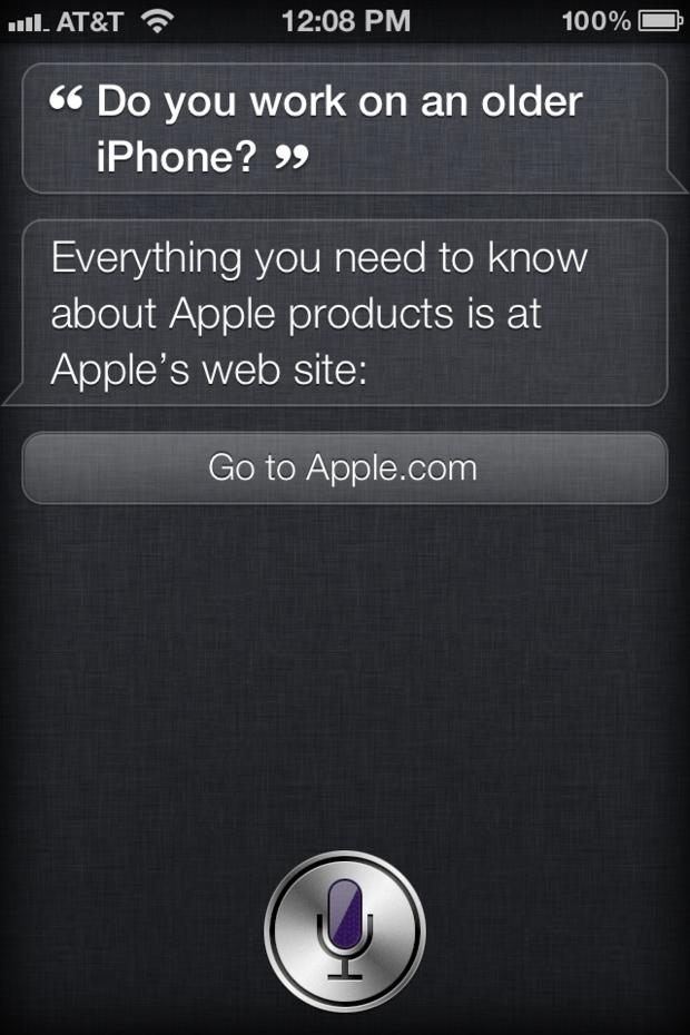 Siri answering a tough question.