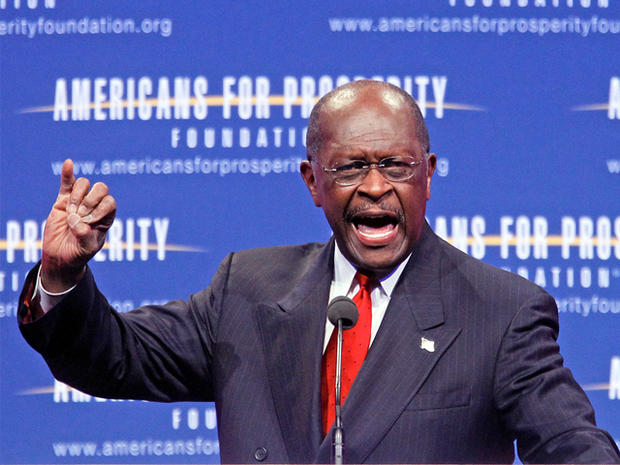 Republican presidential candidate Herman Cain speaks at the Defending the American Dream Summit, Friday, Nov. 4, 2011, in Washington.