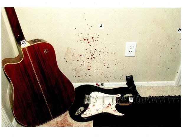 Crime scene: John Needham's bloody apartment