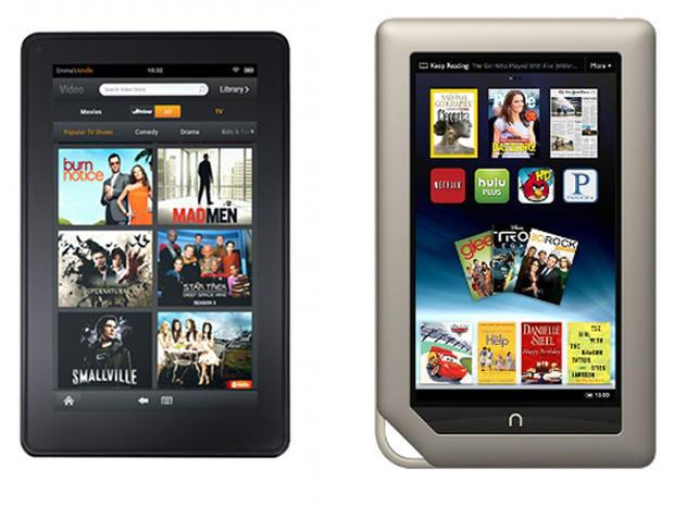 Barnes & Noble Nook Tablet vs  Amazon Kindle Fire - CBS News