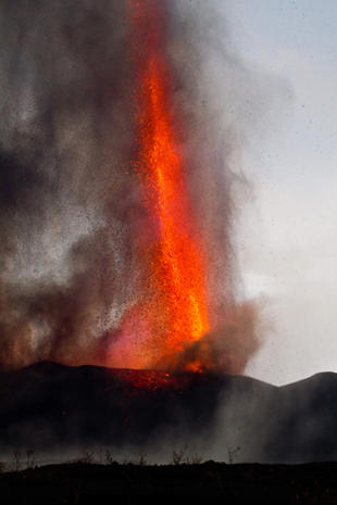 Spectacular eruption in Congo