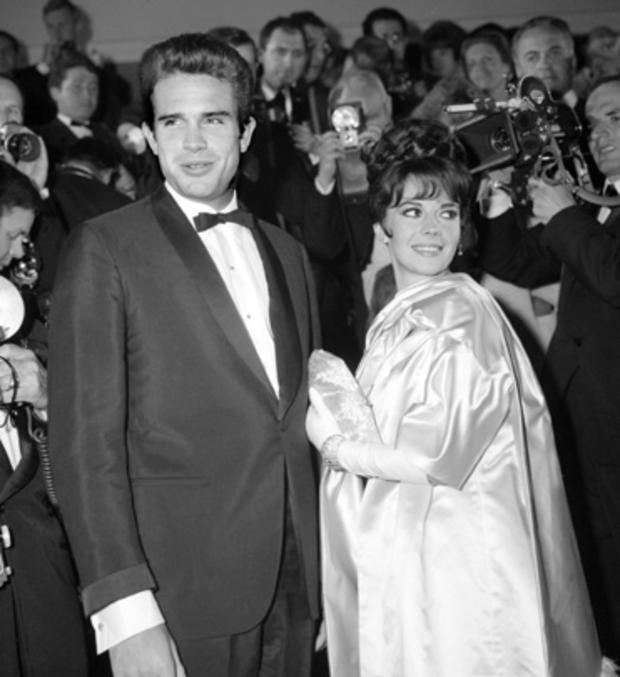 Warren Beatty and Natalie Wood at the Cannes Festival in May 1962
