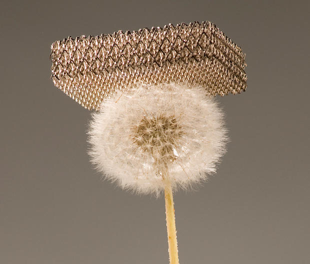 The super-low density of this metal lattice means it can perch with no trouble on a dandelion.