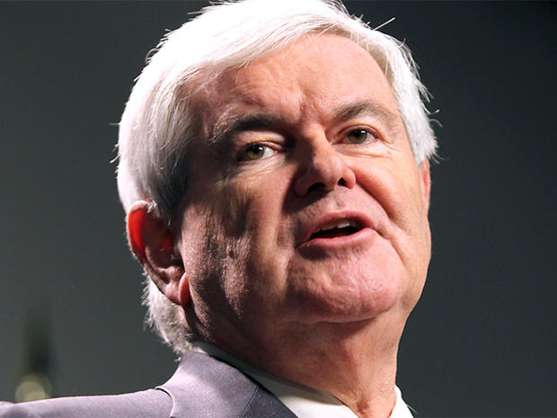 Republican presidential candidate, former House Speaker Newt Gingrich, speaks at a town meeting at St. Anselm College in Manchester, N.H., Monday, Nov. 21, 2011
