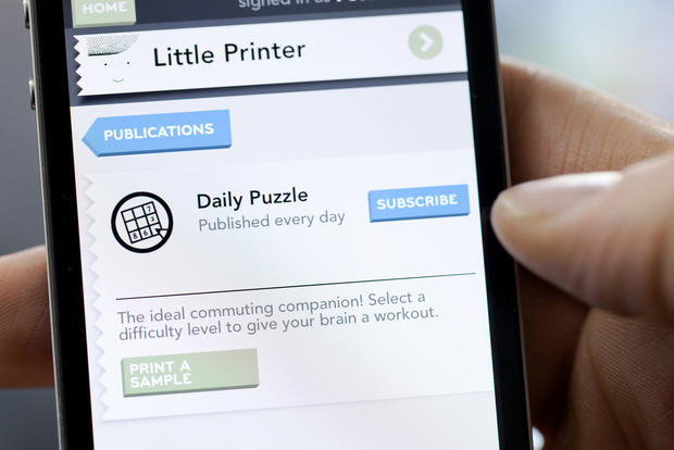 Little Printer creates beautiful mini-newspapers