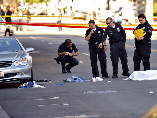 Music executive dies after Hollywood shootout
