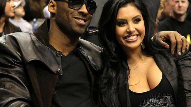 Kobe Bryant of the Los Angeles Lakers smiles with his wife Vanessa Lynne during the 2010 NBA All-Star Weekend at the American Airlines Center Feb. 13, 2010, in Dallas.