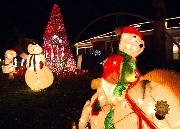 Tacky holiday lights