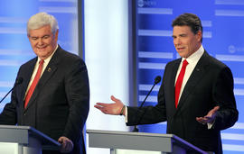 Newt Gingrich, Rick Perry