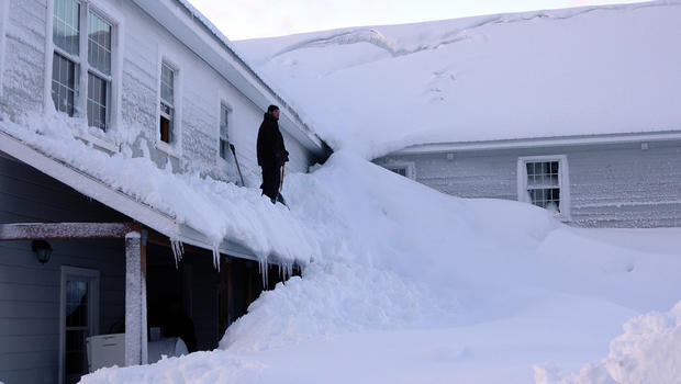 Alaska town buried by more than 15 ft. of snow