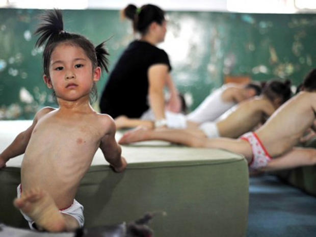 Sweat and tears: China's kid gymnasts