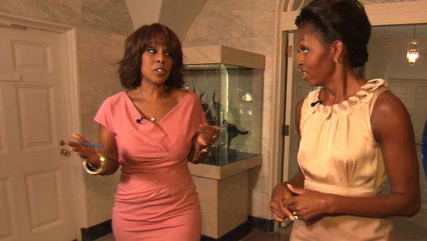 Gayle King and first lady Michelle Obama