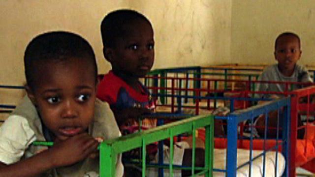 Children in a Haiti orphanage