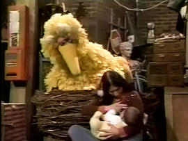 sesame street, breast feeding