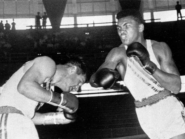 Cassius Clay fights Tony Madigan