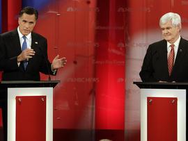 Fla. debate a 2-man show between Romney, Gingrich