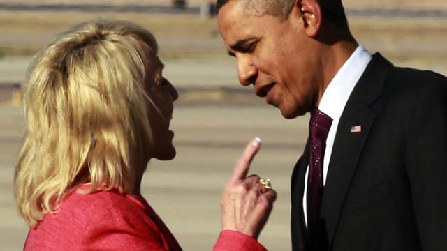 Ariz. Gov., Obama square off