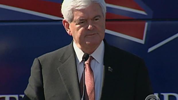 Newt Gingrich stumping for votes in Florida