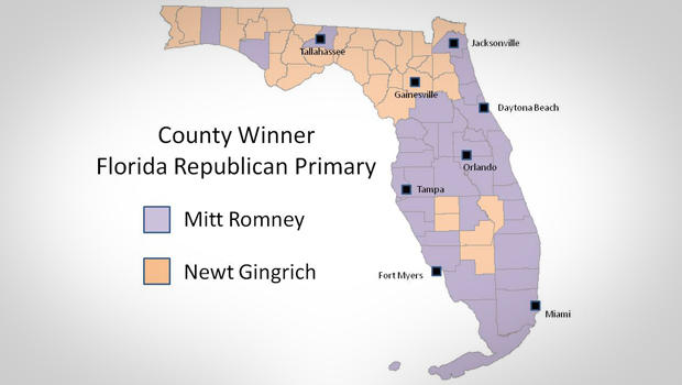 County winners in Florida Primary