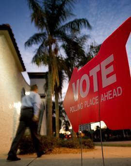 Florida polling precinct
