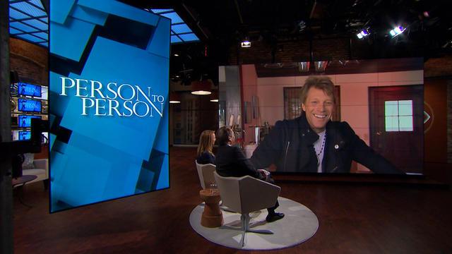 Charlie Rose and Lara Logan visit rocker Jon Bon Jovi for a tour of his New Jersey home.