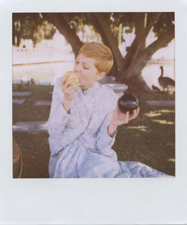 Michelle Williams in the Band of Outsiders look book