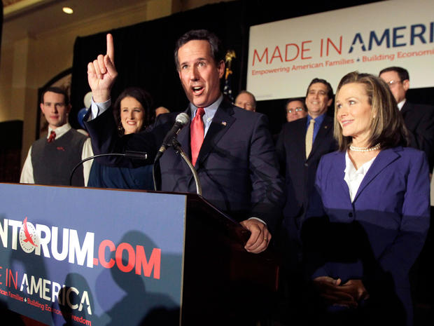 Santorum makes comeback in three states
