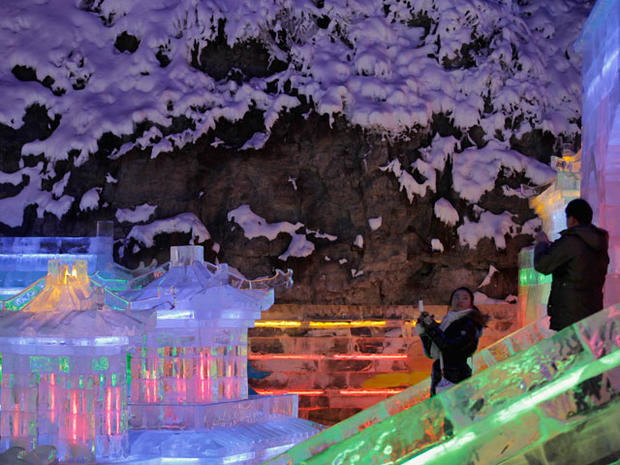 Incredible ice houses at Chinese Lantern Festival