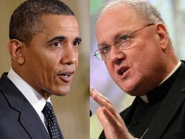 Cardinal-designate Timothy Dolan and Barack Obama