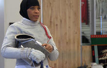 U.S. Muslim athlete aims to make Olympic history