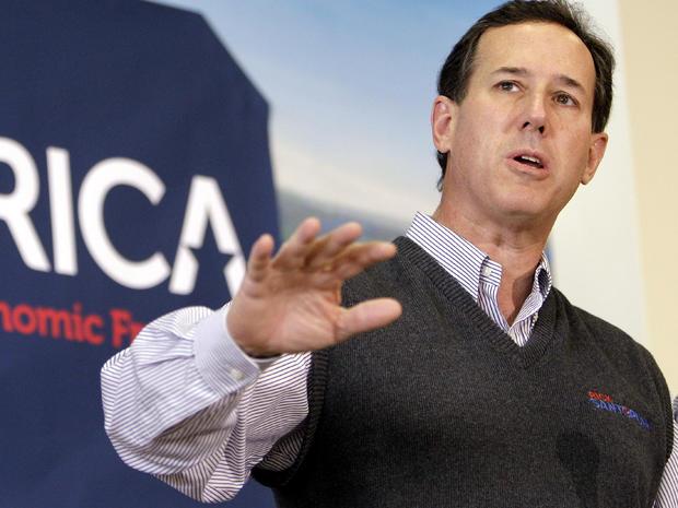 Former Pennsylvania Sen. Rick Santorum speaks at Froehlich's Classic Corner Feb. 20, 2012, in Steubenville, Ohio.