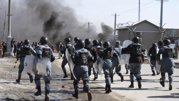 Quran burning protest in Bagram, Afghanistan