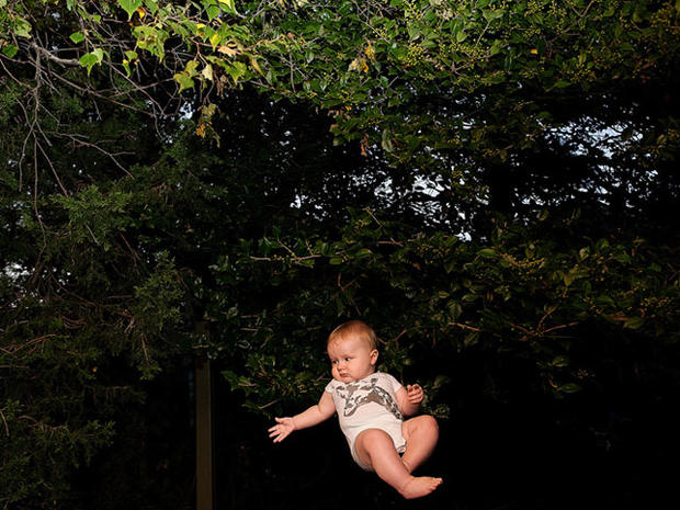 Flying baby pics go viral