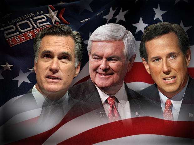 Super Tuesday - Mitt Romney, Rick Santorum and Newt Gingrich