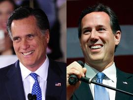 Super Tuesday - Mitt Romney, Rick Santorum
