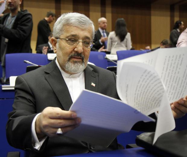 Iran's ambassador to the International Atomic Energy Agency, IAEA, Ali Asghar Soltanieh in Vienna, Austria, on March 8, 2012.