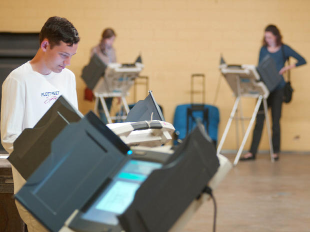 Seth Roberts votes in the Mississippi primary at the old National Guard Armory in Oxford, Miss. on Tuesday, March 13, 2012.