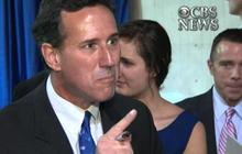 Santorum in heated exchange with reporter
