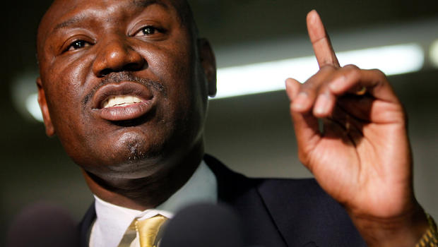 Attorney Benjamin Crump addresses reporters March 20, 2012, in Fort Lauderdale, Fla., about his clients' son, 17-year-old Trayvon Martin, who was killed by neighborhood watch volunteer George Zimmerman Feb. 26, 2012, in Sanford, Fla.