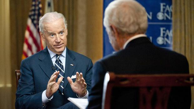 Joe Biden and Bob Schieffer