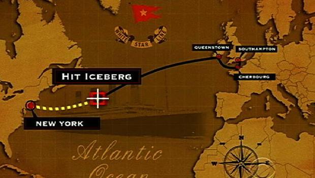 Titanic, route