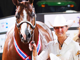 Rita Crundwell at the American Quarter Horse Association World Championship Show in Oklahoma City, Okla., Nov. 2011. (Credit: AP Photo/American Quarter Horse Journal)