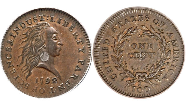 Rare 1792 Penny Fetches 1 15m At Auction Cbs News