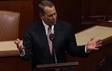 """Boehner fired up, chastises Dems for creating """"war on women"""""""