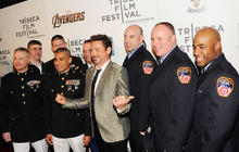 """The Avengers"" plays for real heroes at Tribeca Film Festival"